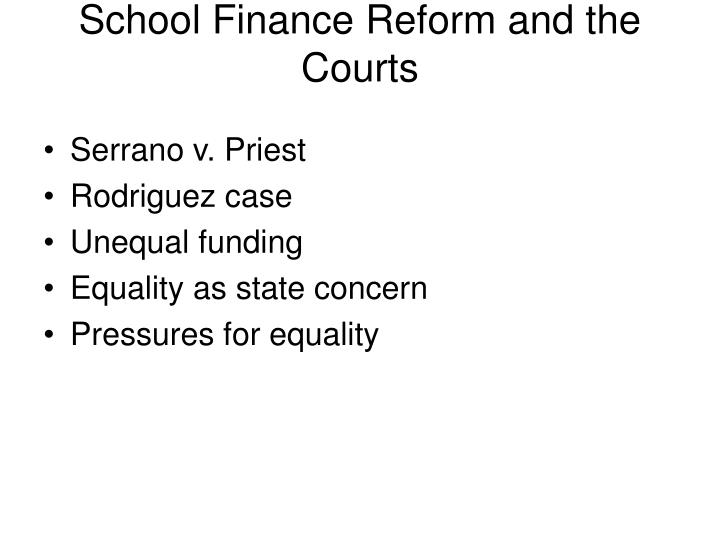 School Finance Reform and the Courts