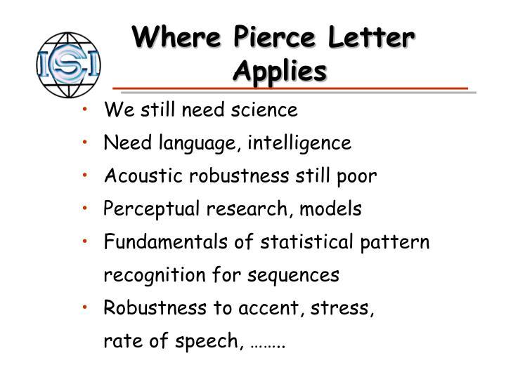 Where Pierce Letter