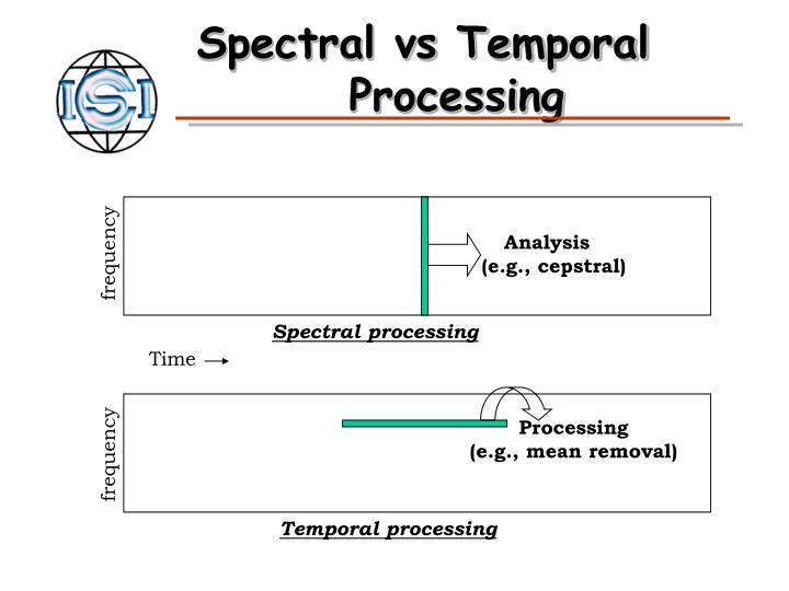 Spectral vs Temporal
