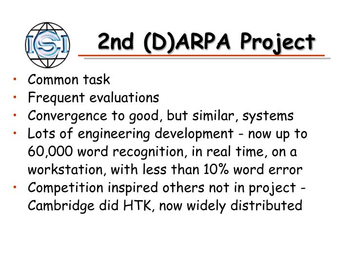 2nd (D)ARPA Project