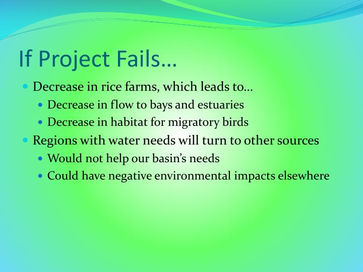 If Project Fails…