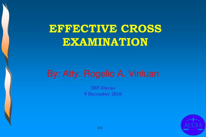 EFFECTIVE CROSS