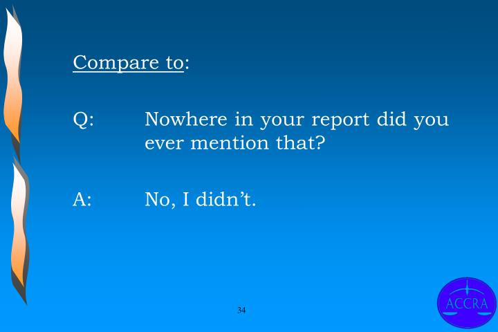 Compare to