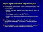 improving the multilateral response requires