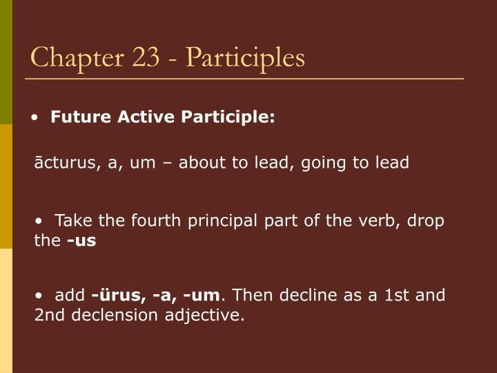 Chapter 23 - Participles