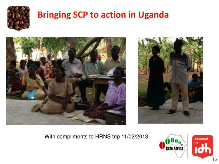 Bringing SCP to action in Uganda