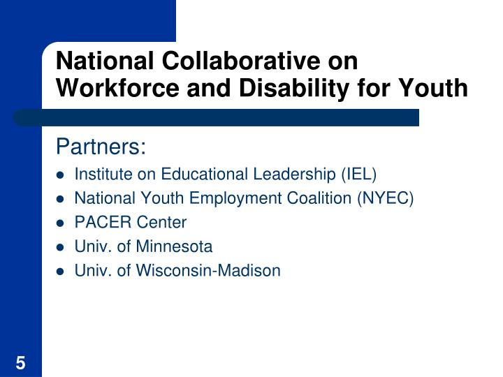 National Collaborative on Workforce and Disability for Youth