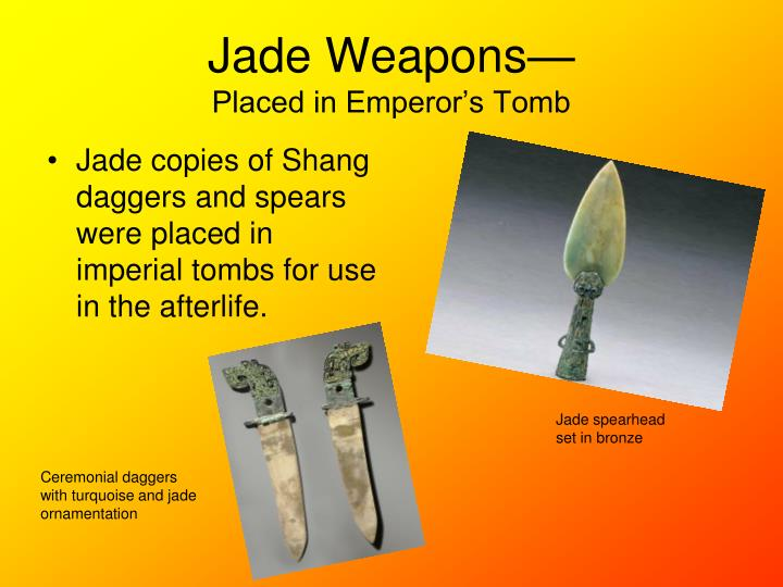 Jade Weapons—