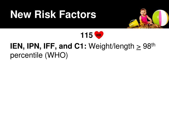 New Risk Factors