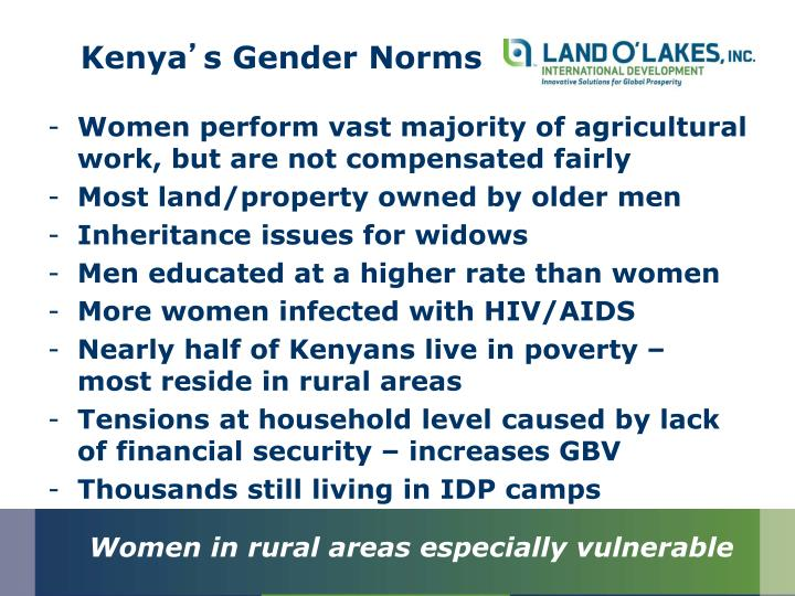 Kenya s gender norms