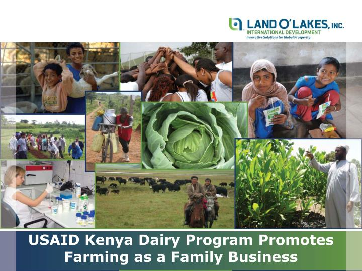 Usaid kenya dairy program promotes farming as a family business
