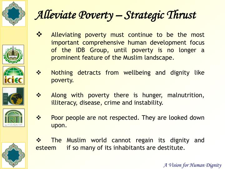 Alleviate Poverty – Strategic Thrust