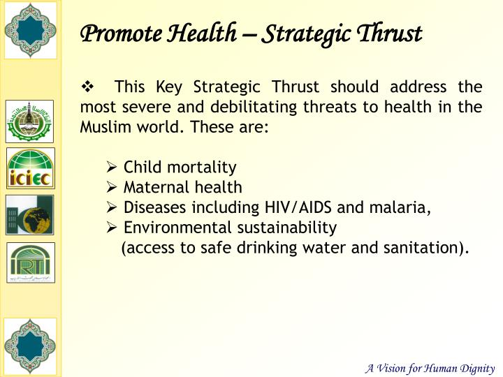 Promote Health – Strategic Thrust