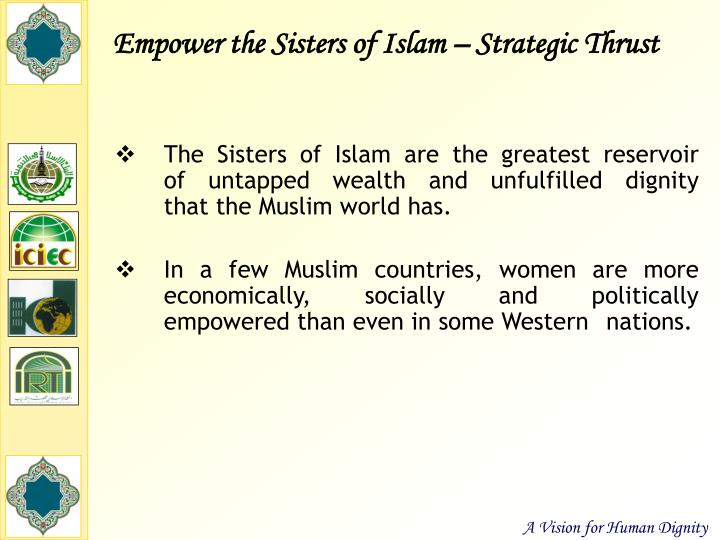 Empower the Sisters of Islam – Strategic Thrust