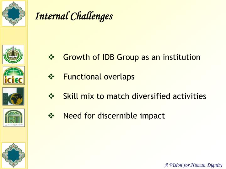 Internal Challenges