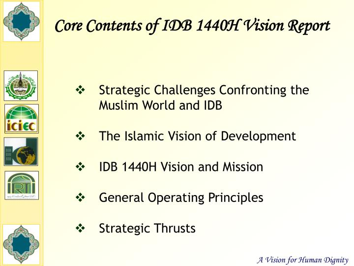 Core Contents of IDB 1440H Vision Report