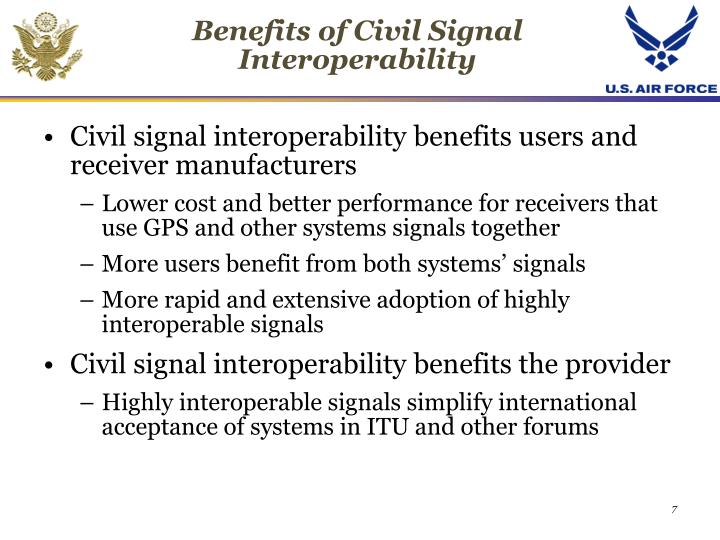 Benefits of Civil Signal Interoperability