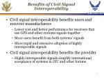 benefits of civil signal interoperability