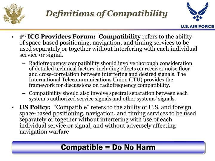 Definitions of Compatibility