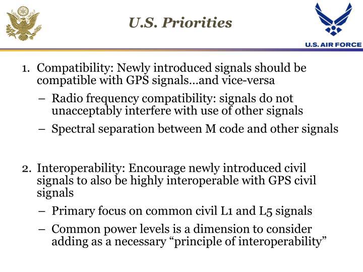 U.S. Priorities