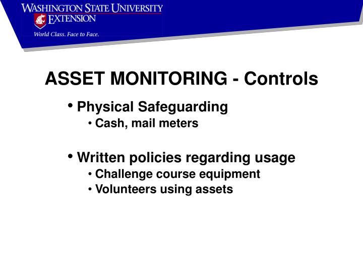ASSET MONITORING - Controls