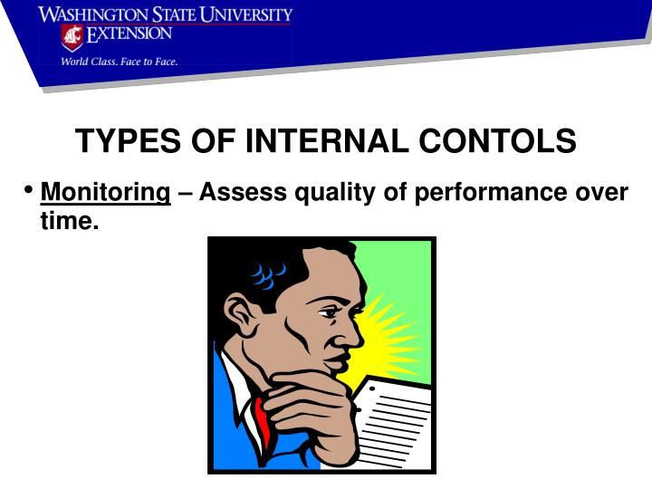 TYPES OF INTERNAL CONTOLS