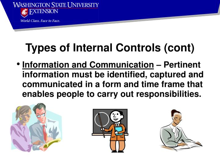Types of Internal Controls (cont)