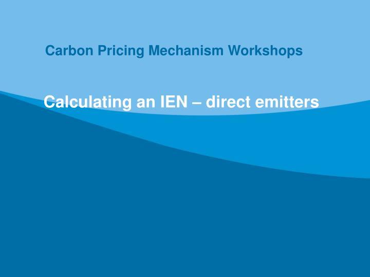Carbon Pricing Mechanism Workshops