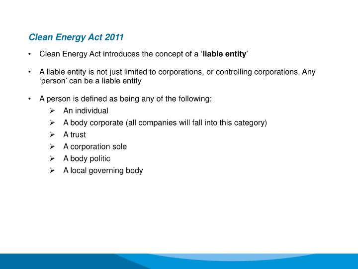 Clean Energy Act 2011