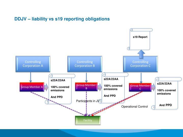 DDJV – liability vs s19 reporting obligations