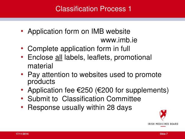 Classification Process 1