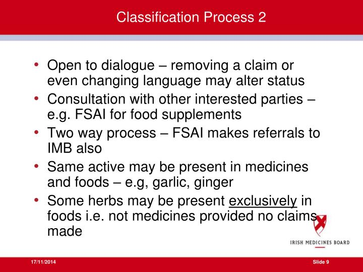 Classification Process 2