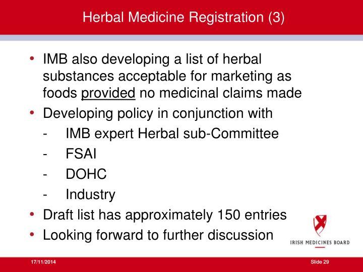 Herbal Medicine Registration (3)