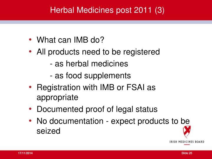 Herbal Medicines post 2011 (3)