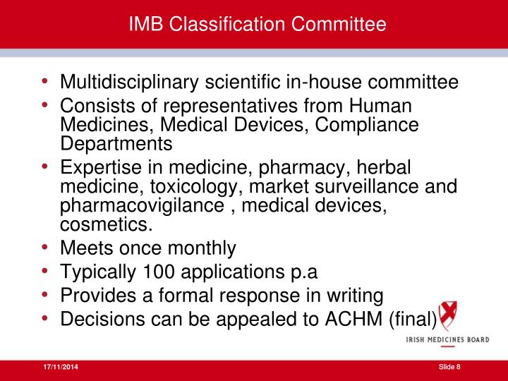 IMB Classification Committee