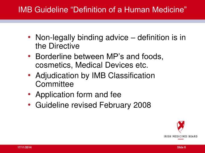 IMB Guideline