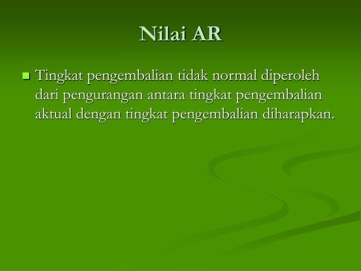 Nilai AR