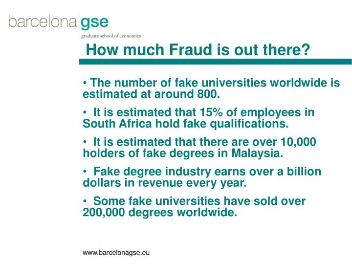 How much Fraud is out there?