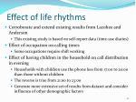 effect of life rhythms