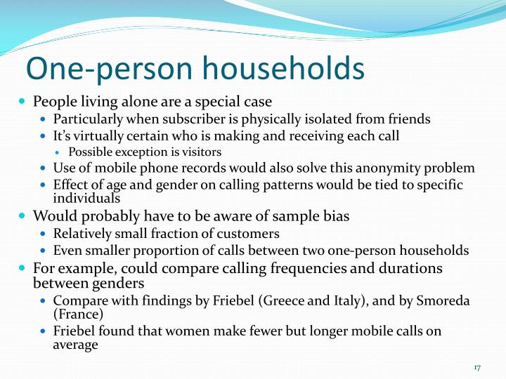 One-person households