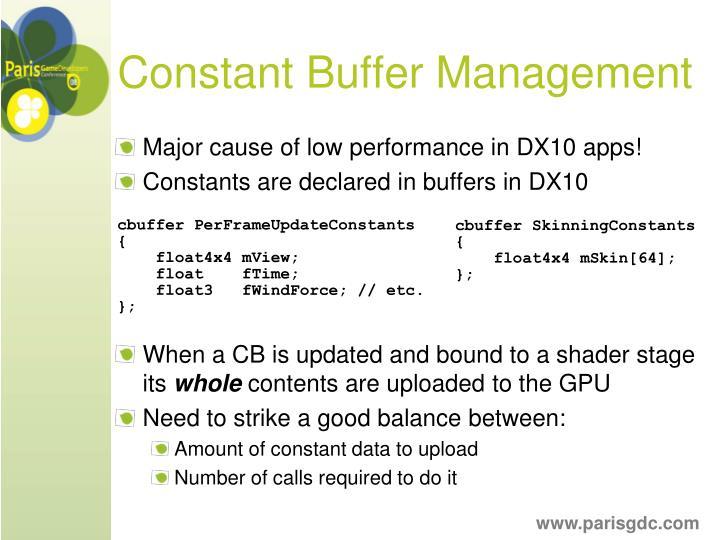 Constant Buffer Management