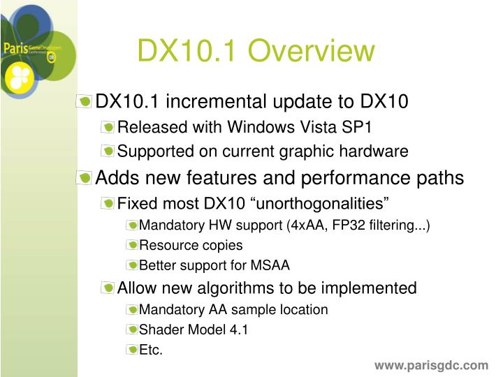 DX10.1 Overview