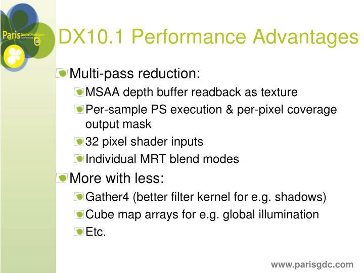 DX10.1 Performance Advantages