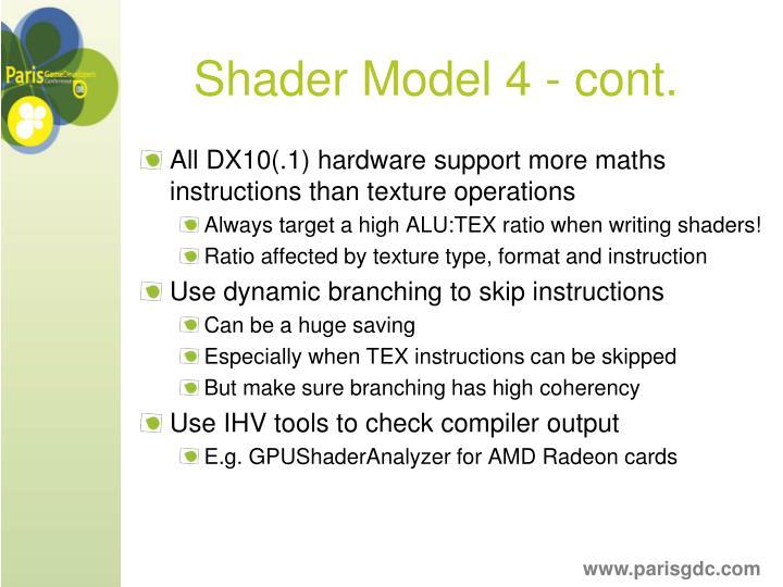 Shader Model 4 - cont.