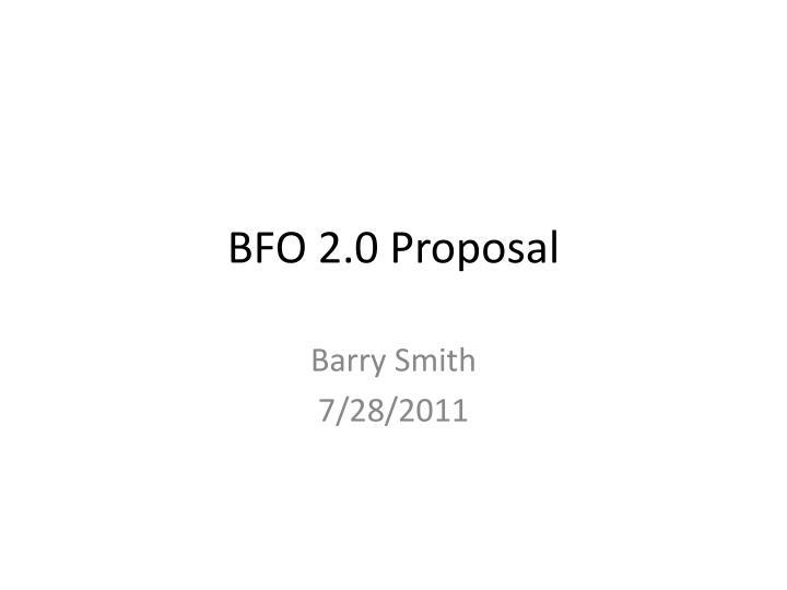 BFO 2.0 Proposal