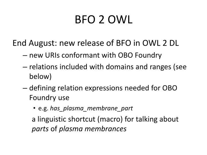 BFO 2 OWL