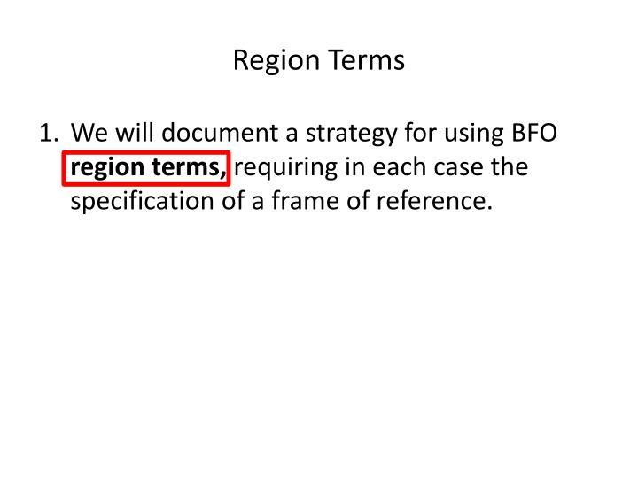 Region Terms