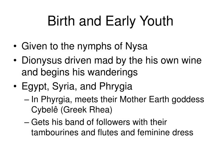 Birth and Early Youth