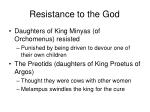resistance to the god2