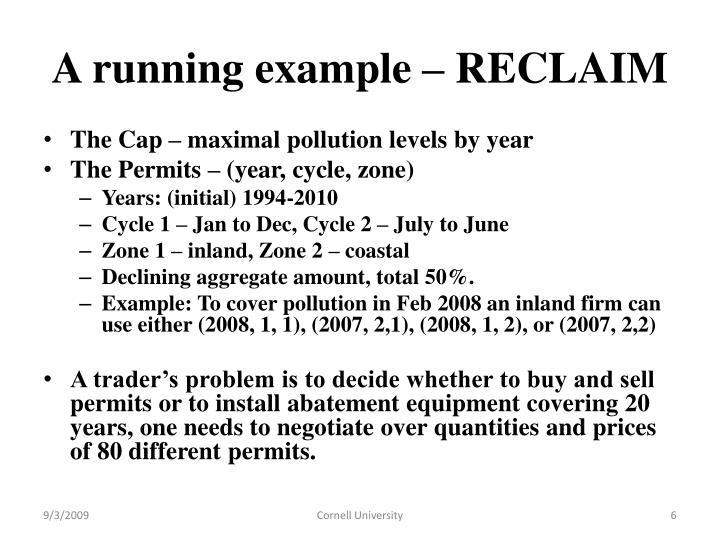 A running example – RECLAIM